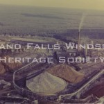 Grand Falls Aerial View of Mill and Stockpile August 1957