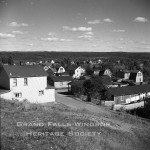 Grand Falls Townsite - Lower section of town taken from top of Bank Road. September 1956